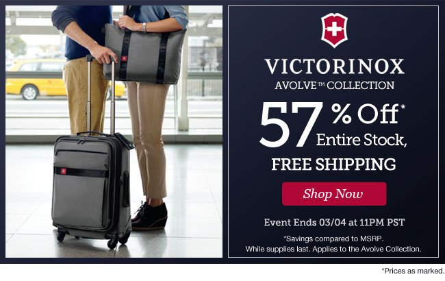 Victorinox Avolve Collection | 57% Off Entire Stock | Free Shipping | Shop Now