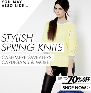 stylish spring knits