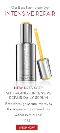 Our Best Technology Ever. INTENSIVE REPAIR. NEW PREVAGE® ANTI-AGING + INTENSIVE REPAIR DAILY SERUM. Breakthrough serum improves the appearance of fine lines within 15 minutes*. $225. SHOP NOW.