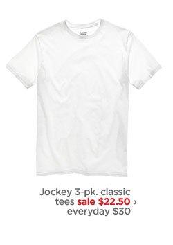Jockey 3-pk. classic tees sale $22.50› everyday $30