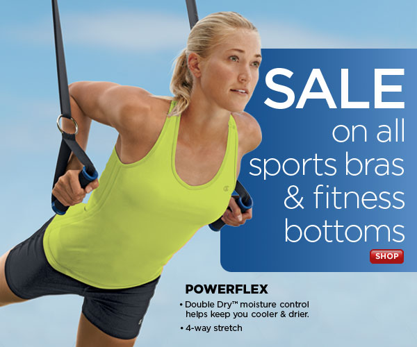 SHOP Sports Bras & Fitness Bottoms SALE