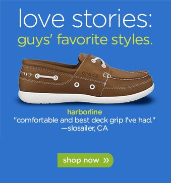 love stories: guys' favorite styles. harborline - shop now