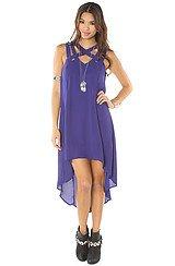 The Criss Cross My Heart Dress in Blue