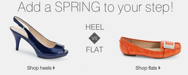 Add a SPRING to your step! Heel VS FLAT