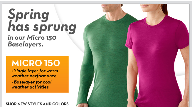 Spring has sprung in our Micro 150 Baselayers