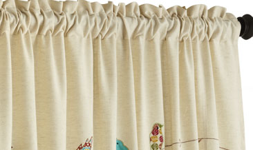 New Applique Birds on a Wire Curtain $59.95