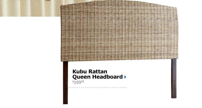 Kubu Rattan Queen Headboard $199.95