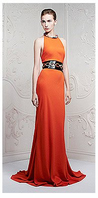 Shop The Orange Crystal Necklace Dress