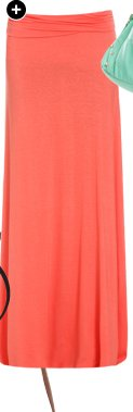 Solid Foldover Maxi Skirt