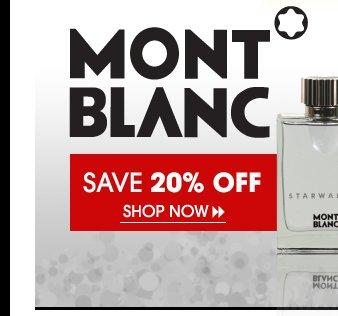 Save 20% OFF Mont Blanc Fragrances