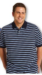 Harbor Bay® Skinny Stripe Piqué Polo