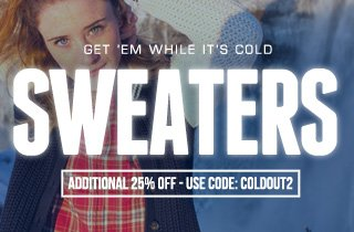 Get 'Em While It's Cold: Sweaters