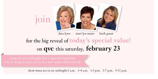 join dara lynn, mari lyn meier, heidi guest for the big reveal of today's special value!