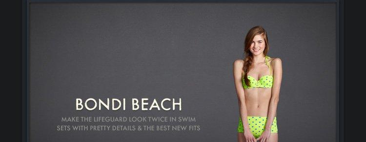 BONDI BEACH. MAKE THE LIFEGUARD LOOK TWICE IN SWIM