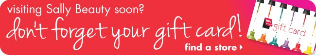 Don't forget your gift card!