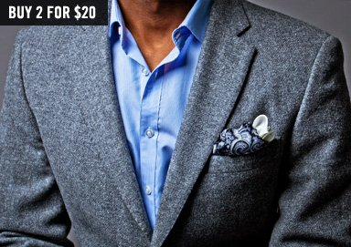 Shop Luxe Selects ft. Silk Pocket Squares