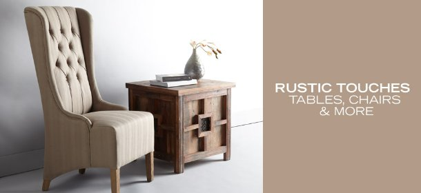 RUSTIC TOUCHES: TABLES, CHAIRS & MORE, Event Ends February 23, 9:00 AM PT >