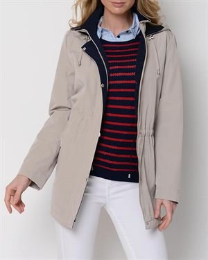 Nautica Zip And Button Trench
