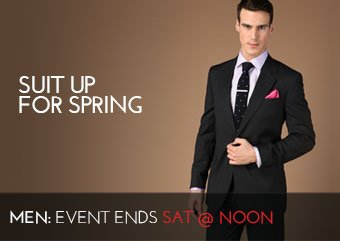 SUIT UP FOR SPRING