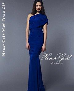 Honor Gold Maxi Dress