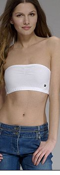 Essentials Cropped Bandeau Top