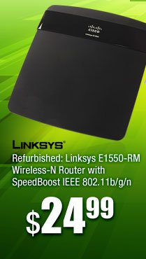 Refurbished: Linksys E1550-RM Wireless-N Router with SpeedBoost IEEE 802.11b/g/n