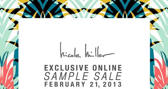 Exclusive Online Sample Sale
