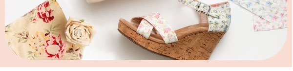 TOMS + Shabby Chic Strappy Wedges