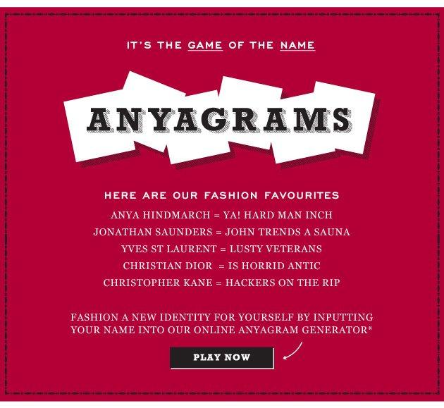 Anyagrams