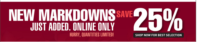 Shop All New Markdowns