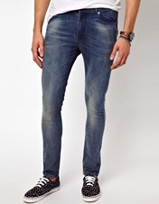 ASOS Super Skinny Jean With Authentic Wash