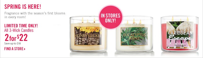 2 for $22, 3-Wick Candles