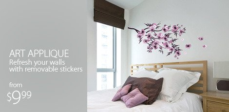 Art Applique: Refresh your walls with removable stickers