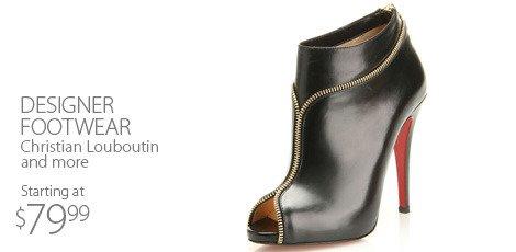 Designer footwear-featuring christian louboutin