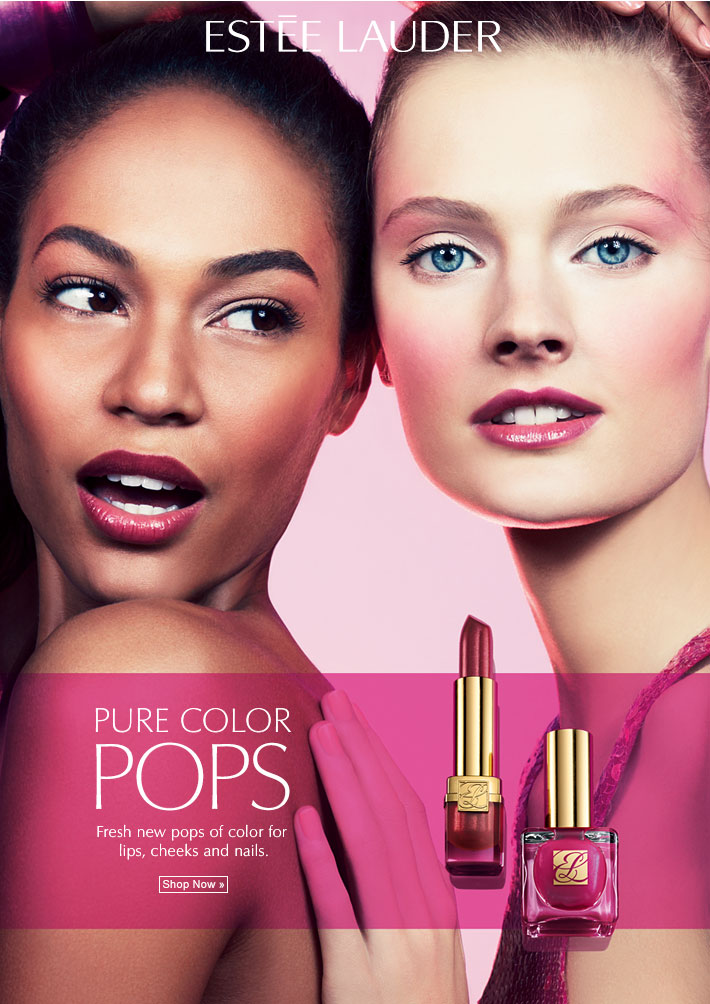 PURE COLOR POPS Fresh new pops of clear, bright color for lips, cheeks and nails. Shop Now »