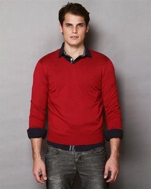 Maglierie Di Peruga V-Neck Cashmere Sweater- Made in Italy $109