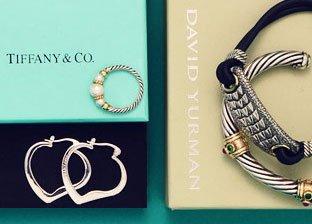 Designer Silver Jewelry: David Yurman ,Tiffany & Co. & more