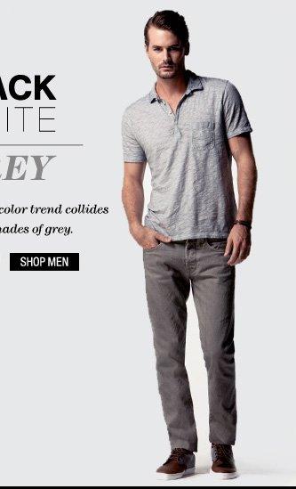 Black + White = Grey - Shop Men