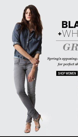 Black + White = Grey - Shop Women