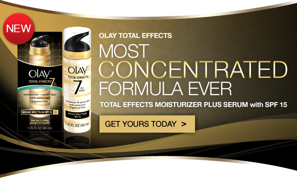 Olay Total Effects. Most Concentrated Formula Ever. Total Effects Moisturizer Plus Serum with SPF 15. Get Yours Today ›