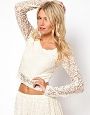 Love Crop Top in Lace