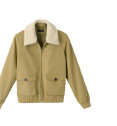 MERINO WOOL COLLAR AVIATOR JACKET