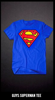 GUYS SUPERMAN TEE