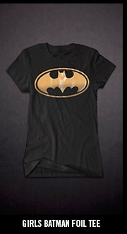 GIRLS BATMAN FOIL TEE