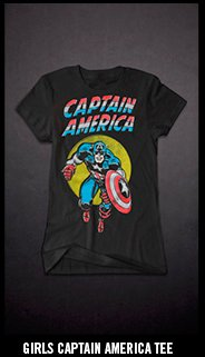 GIRLS CAPTAIN AMERICA TEE