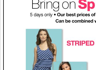 Bring on Spring Sale! Combine with coupon!