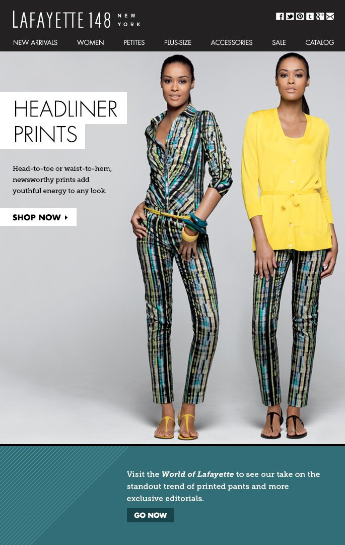 Latest Fashion News? Headliner Prints