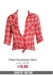 Plaid Boyfriend Shirt