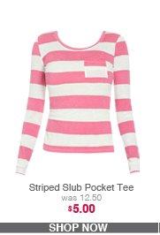 Striped Slub Pocket Tee