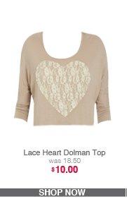 Lace Heart Dolman Top